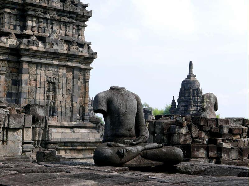 13 Broken Buddha Statue, Candi Sewu, photograph by Anandajoti Bhikkhu