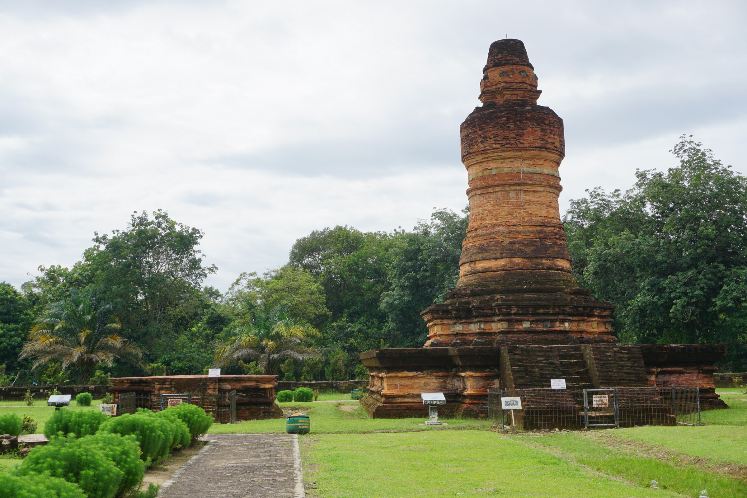 Candi Mahligai, a Tall Stupa-like Building