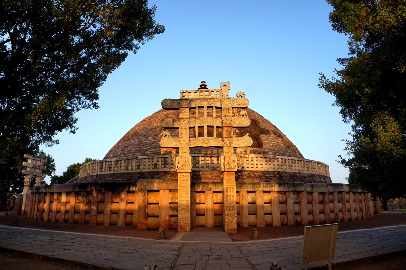 Sanchi Stupa Eastern Gate at Dawn