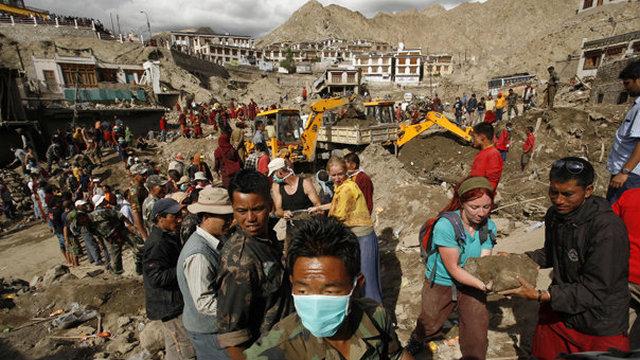 Flood disaster in Ladakh