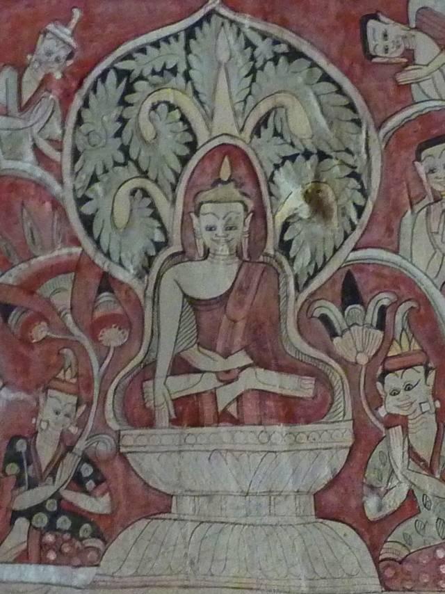 Mural from Po Win Daung, Myanmar