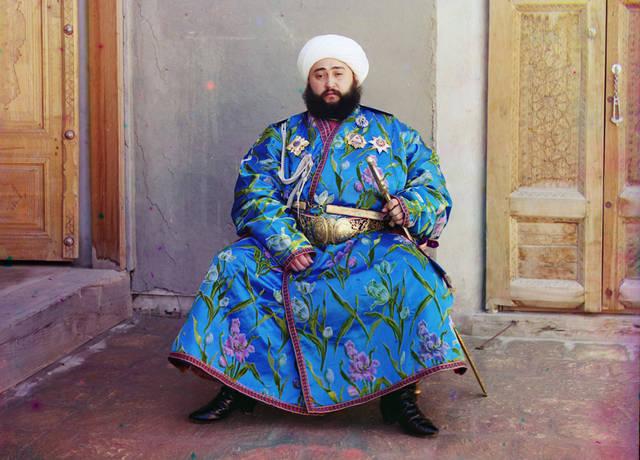 Emir Seyyid Mir Mohammed Alim Khan, the Emir of Bukhara (present-day Uzbekistan), ca. 1910