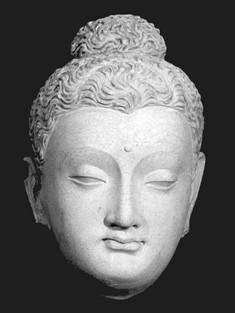 Serindian Buddha Head Statue