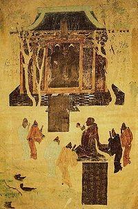 Han Wu-di worshiping Buddha
