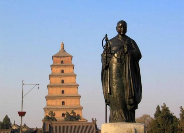 Xuan-zang Statue at the Wild Goose Pagoda, Xi-an